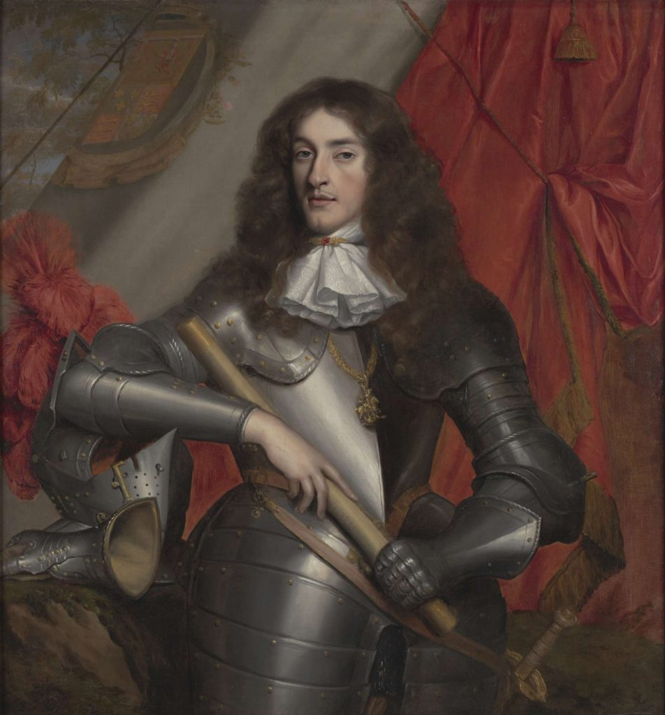A painting of the Duke of York in a suit of armour