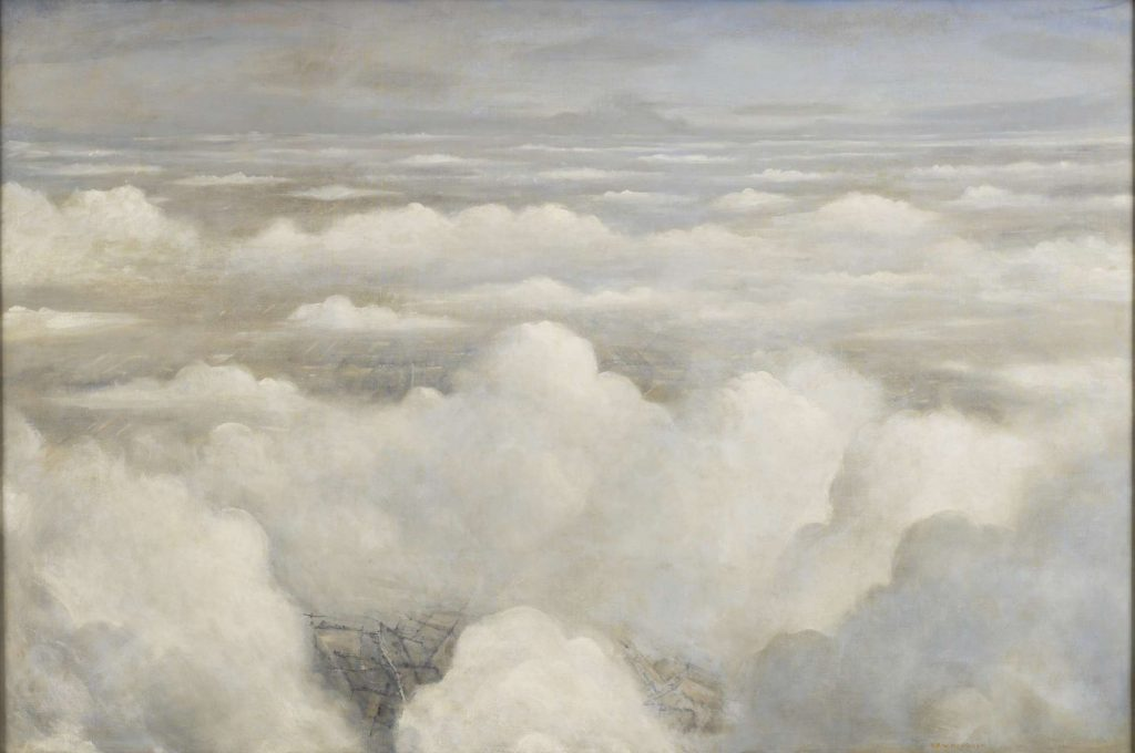 a view of clouds from an aeroplane