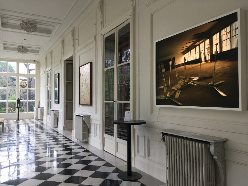 an interior with works of art in the British Residence in Paris