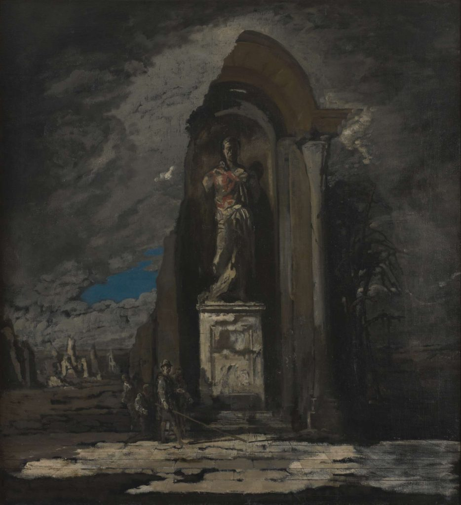 James Pryde, The Monument, oil painting, c.1916-1917