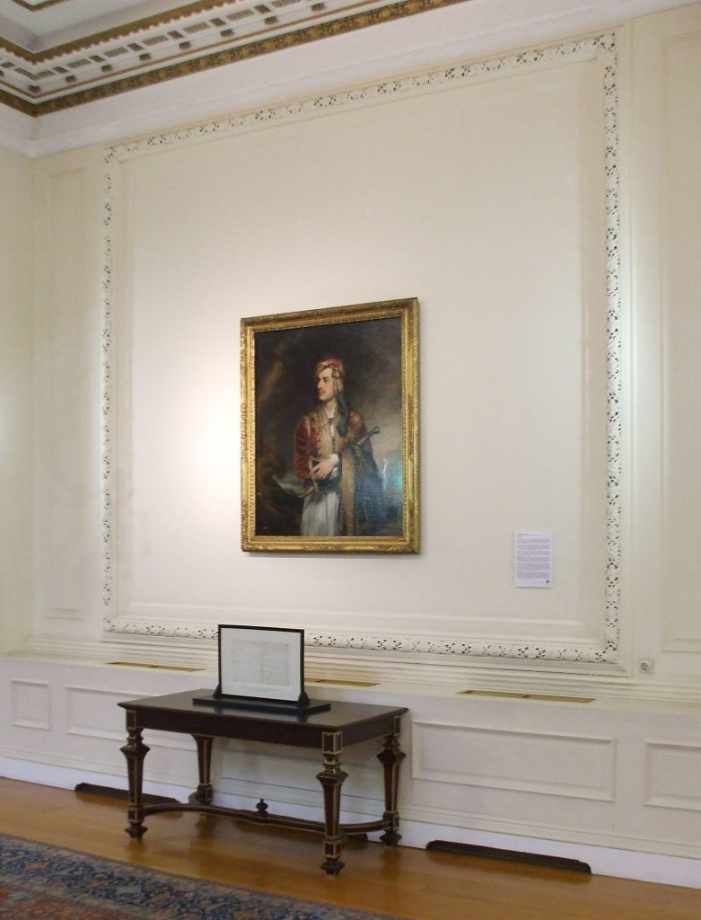 interior showing a painting on a wall