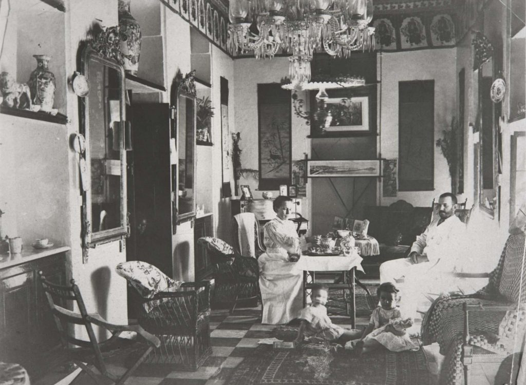 interior room showing a family dining