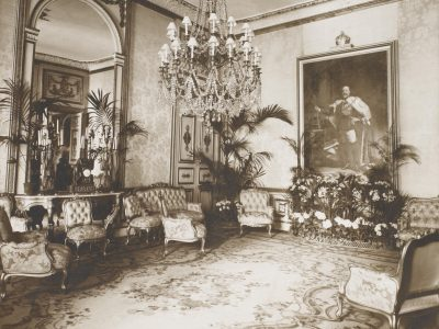 interior of an grand room in an embassy