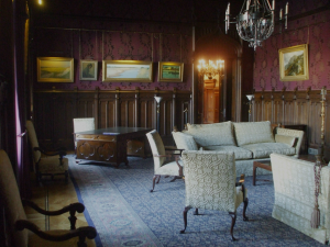 The Gothic drawing room in the Ambassador's residence in Moscow