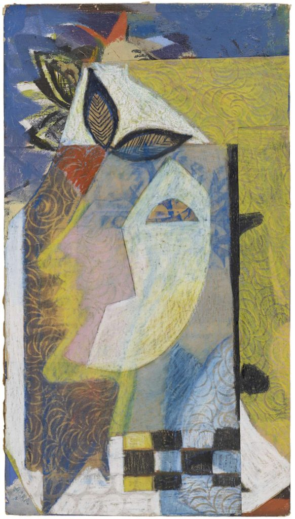 Abstract allegorical portrait of woman by painter Eileen Agar